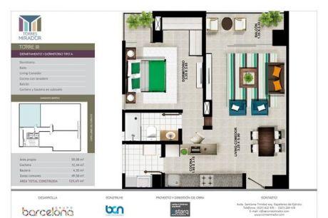 Vendo Departamentos 1 Dormitorio. Zona Santisima Trinidad