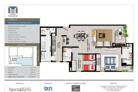 Vendo Departamentos De 2 Dormitorios En Bº Mburucuya - Torres Mirador