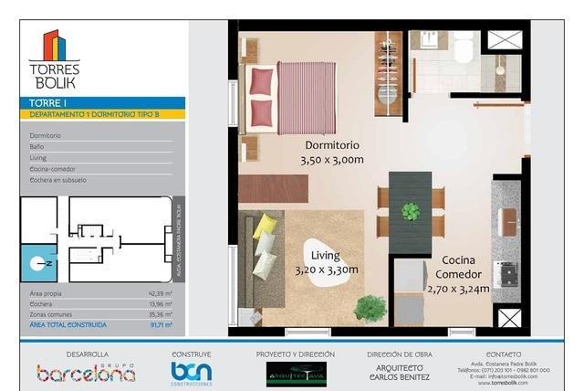 Torres Bolik Vende Hermosos Departamentos De 1 Dormitorio - Encarnacion