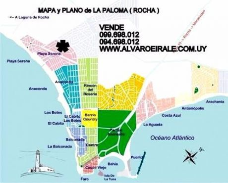 U124217 27.000=terreno<la Paloma>rocha  Zona La Serena  500 M2*