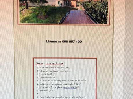 Casi Costa Urbana Casa 4 Habitaciones , Deposito Y Terreno Con Patio Parrillero