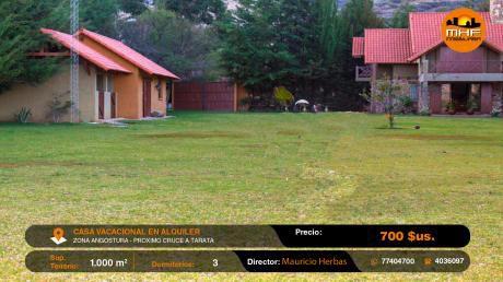 Casa Vacacional Amoblada En Alquiler A Orilas Laguna Angostura