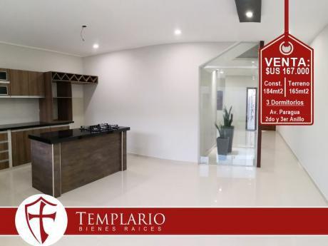 Av. Paragua 2do Y 3er Anillo - Hermosa Casa A Estrenar