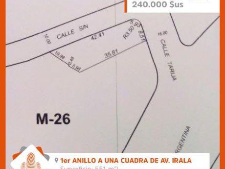 Hermoso Terreno En Venta En Zona Centro, 1er Anillo A Media Cuadra De Av. Irala