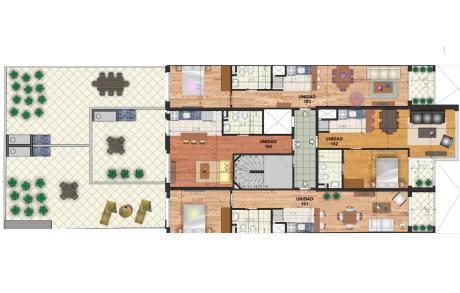 Apto Tipo Casa, 1 Dorm 57m2 + 54m2 De Patio Estrena 2019