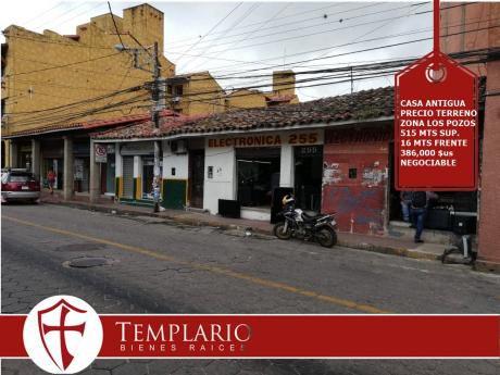 Venta.- 386,000 $us Casa Antigua Zona Los Pozos