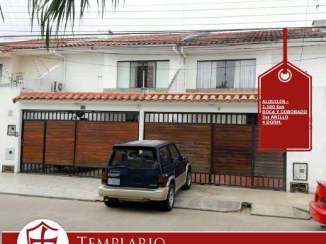 Anticretico.- 70,000 $us Casa 4 Dorm Av Roca Coronado 3er Anillo