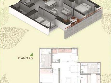 Tierra Inmobiliaria –departamento De 2 Dormitorios En Bernardino Caballero