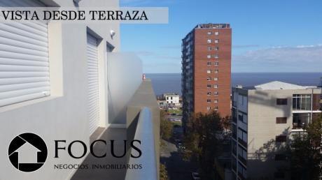 Venta Con Renta! 2 Dorm Con Terraza, Vista Al Mar, Gje Y Gastos Incluidos