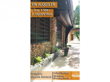 Casa En Alquiler - Z. Equipetrol