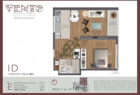Apartamento De Un Dormitorio. Entrega Inmediata. Ley De Vivienda Social. Ideal Para Invertir. Apto Con Patio.