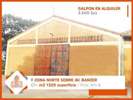 Amplio Galpón En Alquiler, Zona Norte Sobre Av. Banzer Km. 9