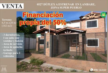 0527 DÚplex A Estrenar En Lambare, Zona Supermercado Pueblo