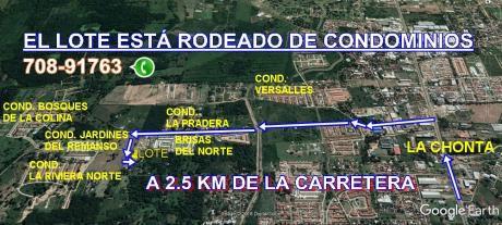 En Venta Lote Rodeado De Condominios – Zona Norte Km 8!