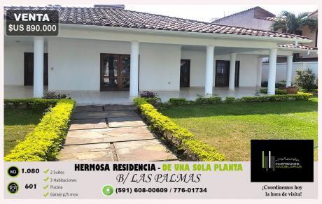 Residencia De Un Piso - Amplio Patio Y Piscina