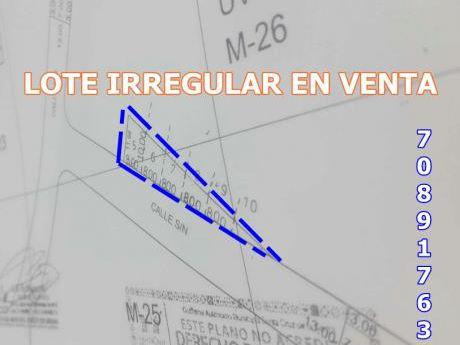 Lote Especial En Venta  - Av. G77 Zona Norte!