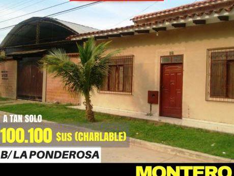 Montero-casa En Venta Primer Anillo -zona Pavimentada