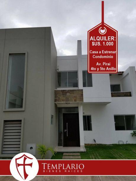 Hermosa Casa A Estrenar En Condominio Cerrado Av. Pirai 4to Y 5to Anillo