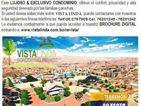 Lujoso & Exclusivo Condominio Vista Linda