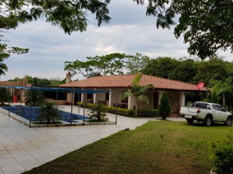 Remató  Casa Quinta Con 25 Hectareas En Piribebuy