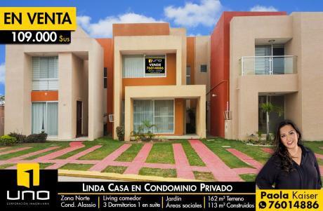 Linda Casa Equipada En Condominio - Zona Norte