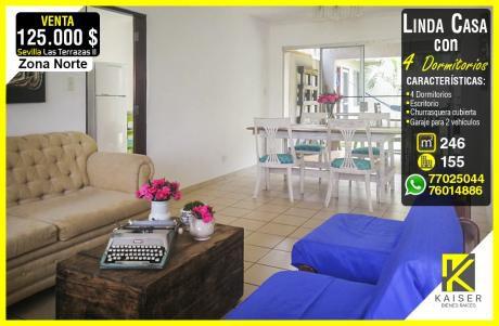 Linda Casa De 4 Dormitorios En Condominio Privado