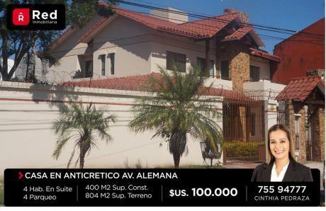 Amplia Casa En Anticretico!!