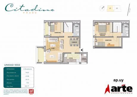 Penthouse! 3 Dorm, Cocina Definida, Terrazas!