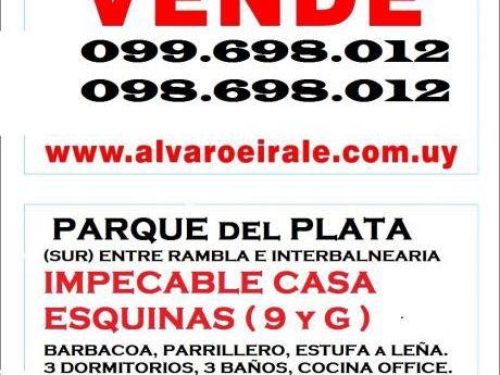 "Casa Esquina Centrica Calle ""9 Y G"" Entre Rambla E Interbalnearia"