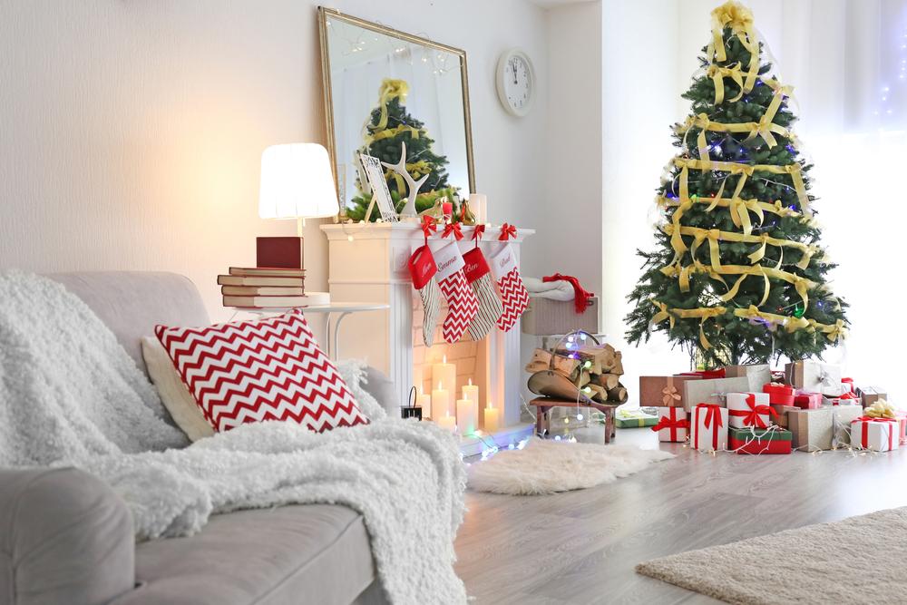 Decoracion de navidad para oficinas trendy tour de mi for Adornos navidad oficina