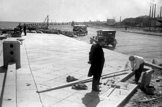 Construcción de la Rambla de Montevideo