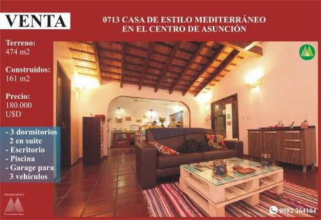 0713 Casa En Zona CÉntrica De AsunciÓn