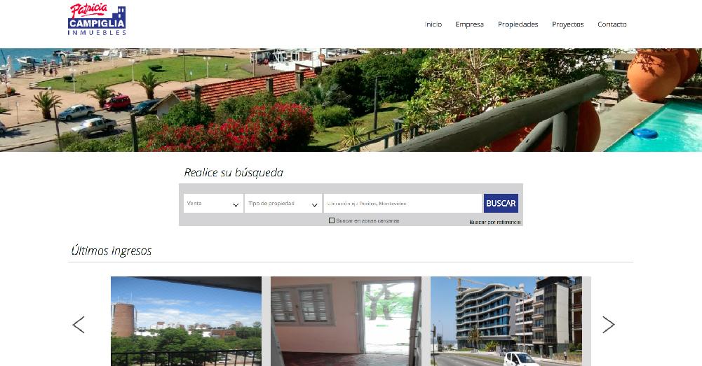 Ejemplo de sitio web inmobiliario - InfoCasas