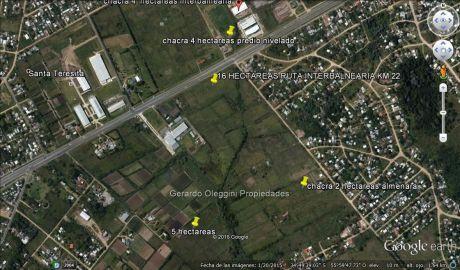 Venta Terreno Sobre Interbalnearia 16 Hec Km 22 Cw73288