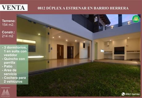 0812 Duplex A Estrenar, Barrio Herrera
