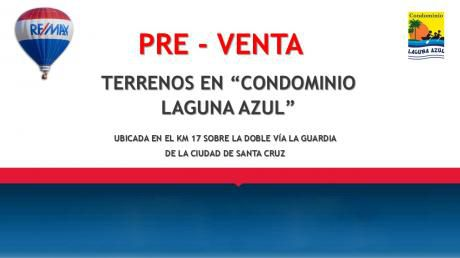 "Pre – Venta Terrenos En ""condominio Laguna Azul"""