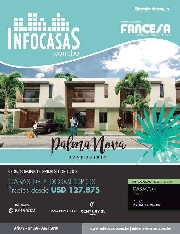 Revista InfoCasas, Número 20, Abril 2018