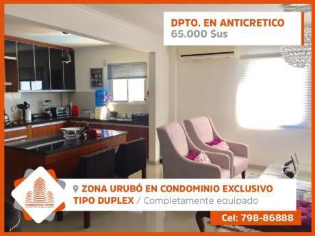 Departamento Tipo Duplex Totalmente Equipado En Anticretico En El Urubó