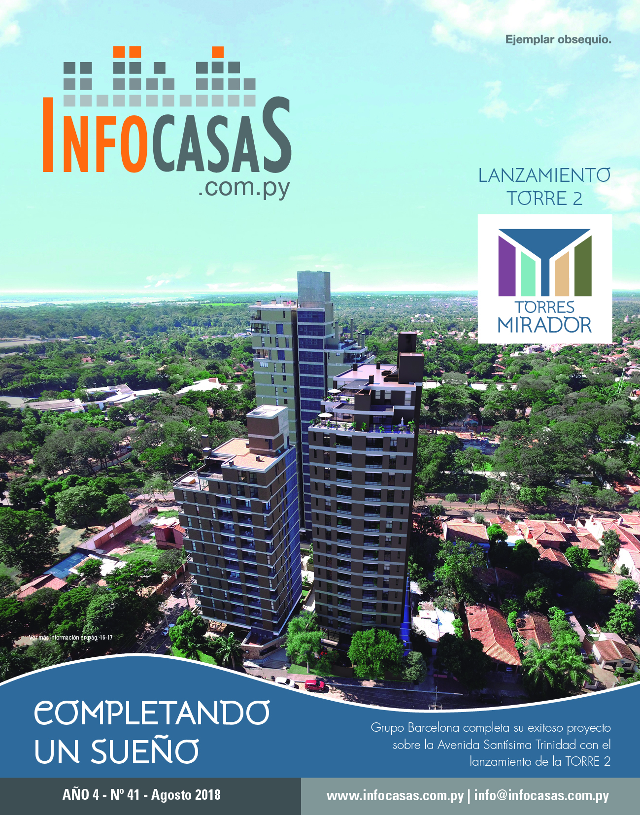 Revista InfoCasas, Número 41, Agosto 2018