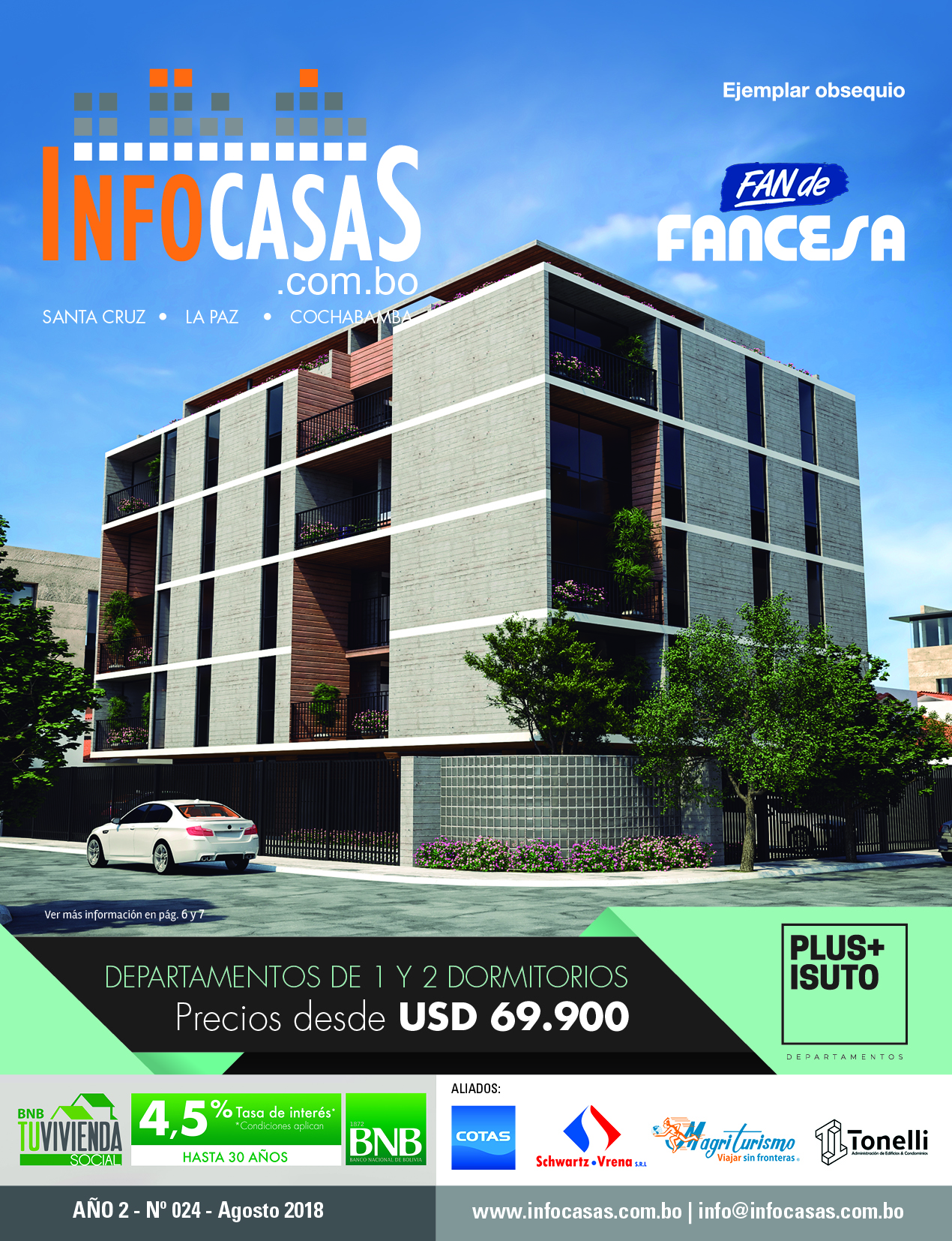 Revista InfoCasas, Número 24, Agosto 2018