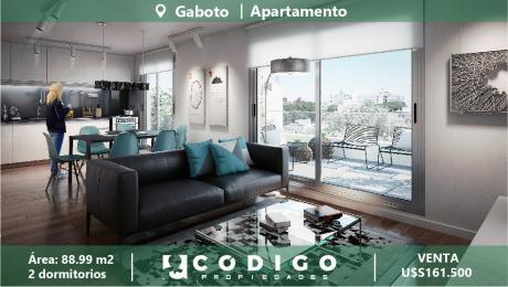 A Estrenar Apartamento En Gaboto, 2 Dorm, Edificio Moderno