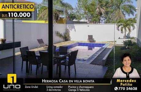Casa En Anticretico En El Urubo