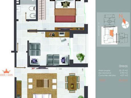 Increíble Penthouse! 2 Dorm, Excelente Distribución!