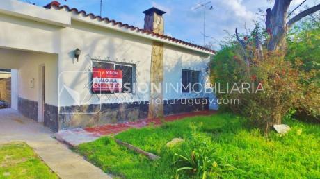 Alquiler Anual, Casa Reciclada, Las Toscas, 2 Dorm, 1 Baño, Jardín Y Fondo.