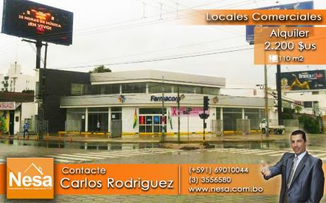 En Alquiler Locales Comerciales - Av. Banzer