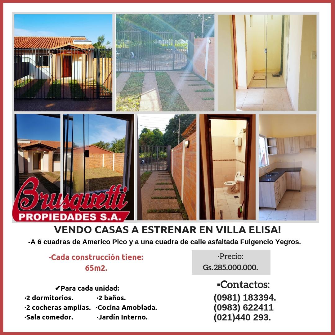 Vendo Casas En Villa Elisa