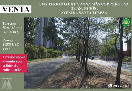 0305 Terreno En Avenida Santa Teresa, Barrio Ycua Sati