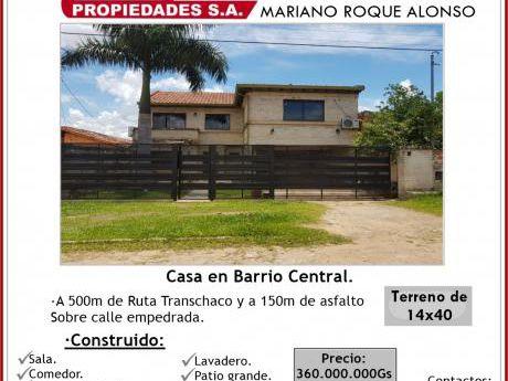 Casa En Mariano Roque Alonso!