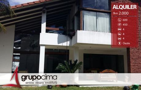Amplia Y Lujosa Casa En Alquiler En Zona Residencial !!!
