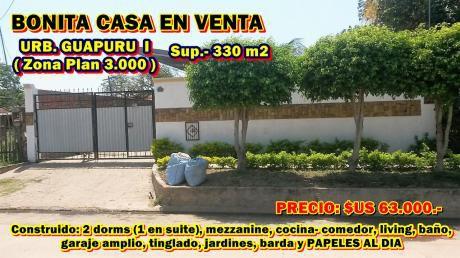 Casa En Venta En Urbanizacion Guapuru I (zona Plan 3000)